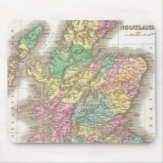 Vintage Map of Scotland (1827) Mouse Pad