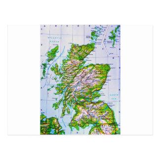 Vintage Map of Scotland Orkney Islands Post Cards