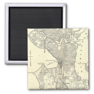 Vintage Map of Seattle (1914) Magnet