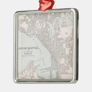 Vintage Map of Seattle Washington (1901) Christmas Ornament