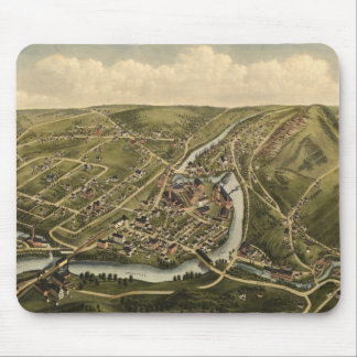 Vintage Map of Seymour Connecticut (1879) Mouse Pad