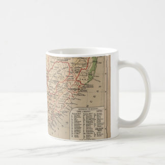 Vintage Map of South Africa (1880) Coffee Mug