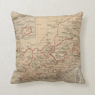Vintage Map of South Africa (1880) Cushion