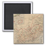Vintage Map of South Africa (1880) Square Magnet