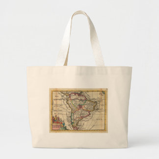 Vintage Map of South America 1747 Bags