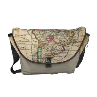 Vintage Map of South America (1747) Commuter Bag