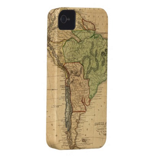 Vintage Map of South America (1821) iPhone 4 Case-Mate Cases