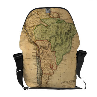 Vintage Map of South America 1821 Courier Bags