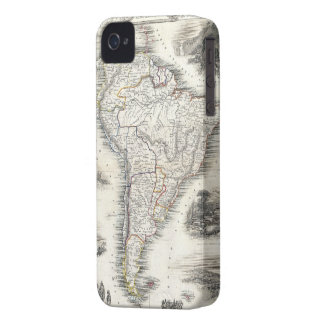 Vintage Map of South America 1850 iPhone 4 Cover