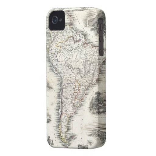 Vintage Map of South America (1850) iPhone 4 Cover