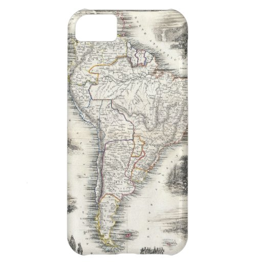 Vintage Map of South America (1850) iPhone 5C Case
