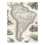 Vintage Map of South America (1850) Post Cards