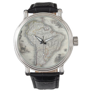 Vintage Map of South America (1850) Watch