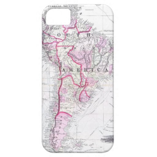 Vintage Map of South America (1861) iPhone 5 Covers