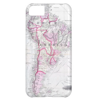 Vintage Map of South America (1861) iPhone 5C Cases