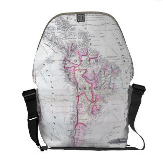 Vintage Map of South America (1861) Messenger Bags