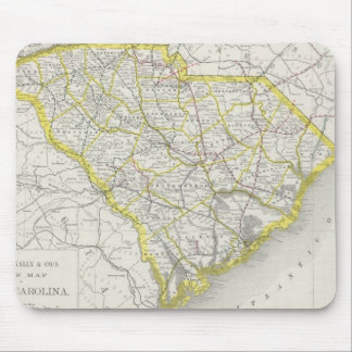 Vintage Map of South Carolina (1889) Mouse Pad