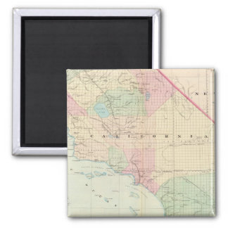 Vintage Map of Southern California (1874) Square Magnet