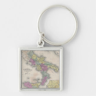 Vintage Map of Southern Italy (1853) Key Ring