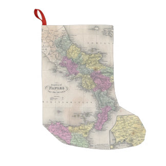 Vintage Map of Southern Italy (1853) Small Christmas Stocking