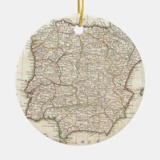 Vintage Map of Spain (1775) Christmas Ornament