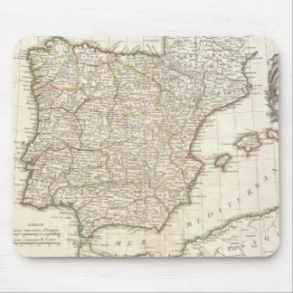 Vintage Map of Spain (1775) Mouse Mat