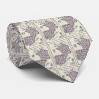 Vintage Map of Spain and France (1865) Tie