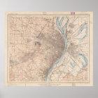 Vintage Map of St. Louis Missouri (1904) Poster