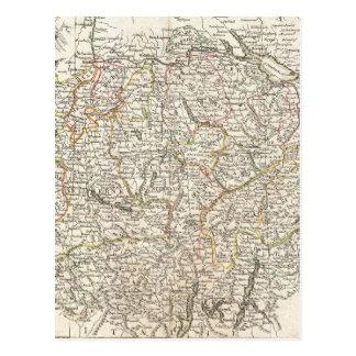 Vintage Map of Switzerland 1771 Postcard