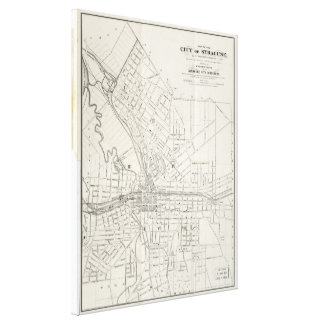 Vintage Map of Syracuse New York (1873) Canvas Print