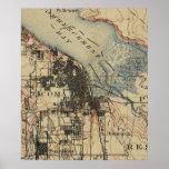 Vintage Map of Tacoma Washington (1895) Poster