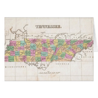 Vintage Map of Tennessee (1827) Card