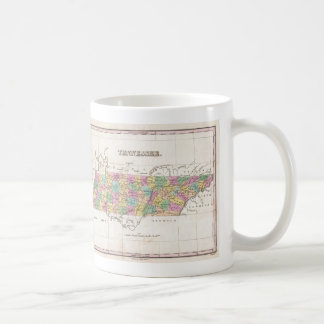 Vintage Map of Tennessee (1827) Coffee Mug