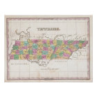 Vintage Map of Tennessee (1827) Poster