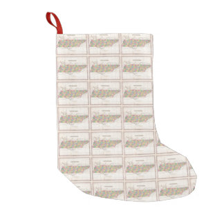 Vintage Map of Tennessee (1827) Small Christmas Stocking