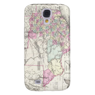 Vintage Map of Texas 1855 Galaxy S4 Covers
