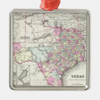 Vintage Map of Texas (1855) Christmas Ornament