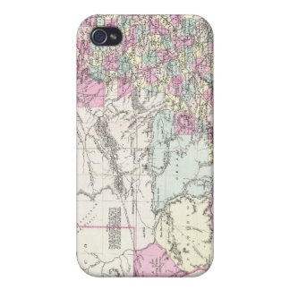 Vintage Map of Texas 1855 iPhone 4/4S Cases