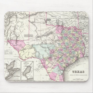 Vintage Map of Texas (1855) Mouse Mat