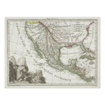 Vintage Map of Texas and Mexico Territories (1810) Poster
