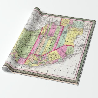 Vintage Map of the American West California Oregon Wrapping Paper