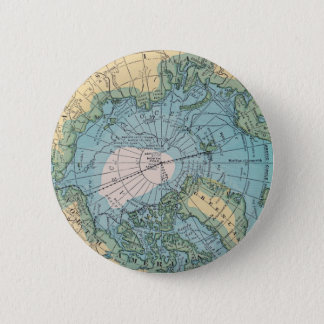 Vintage Map of the Arctic 6 Cm Round Badge