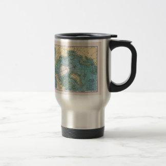 Vintage Map of the Arctic Travel Mug