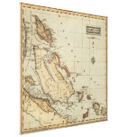 Vintage Map of The Bahamas (1823) Canvas Print