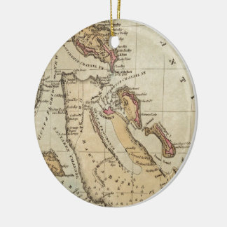 Vintage Map of The Bahamas (1823) Christmas Ornament