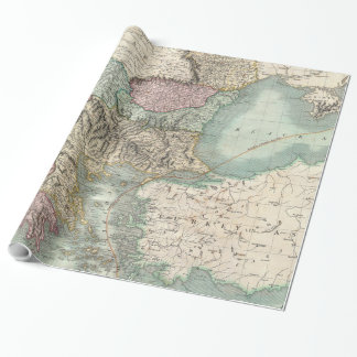 Vintage Map of The Balkans and Turkey (1801) Wrapping Paper