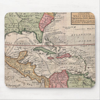 Vintage Map of the Caribbean (1732) Mouse Mat
