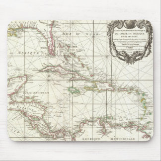 Vintage Map of the Caribbean Mouse Pad