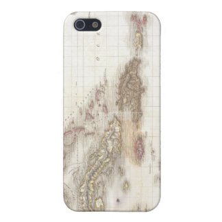 Vintage map of the Caribbean Sea Covers For iPhone 5