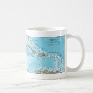 Vintage Map of the Caribbean - U.S. Basic White Mug